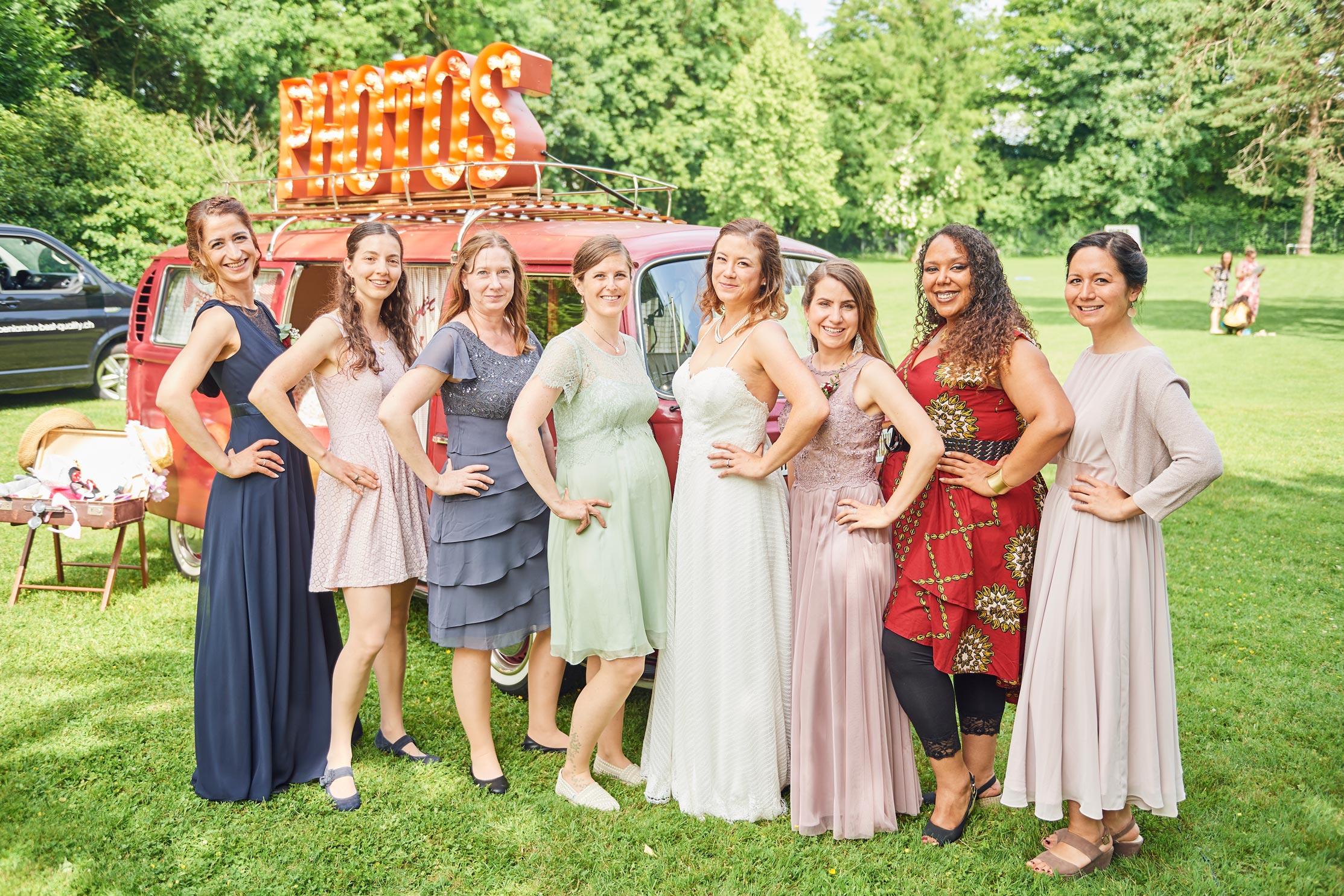 Gruppenfotos Hochzeit Photobus