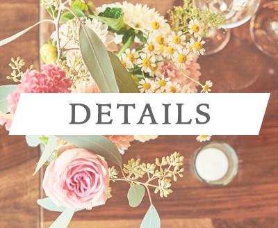 Detailbilder und Deko an Hochzeit