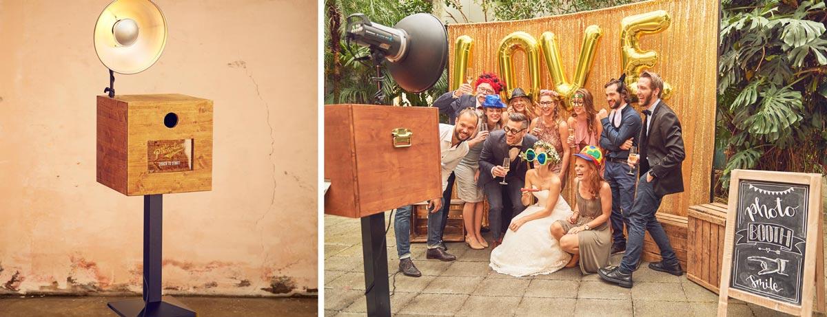 Photobooth für die Hochzeit