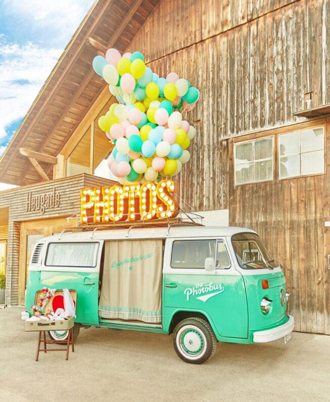 Der Photobus mieten in der Schweiz für Hochzeiten