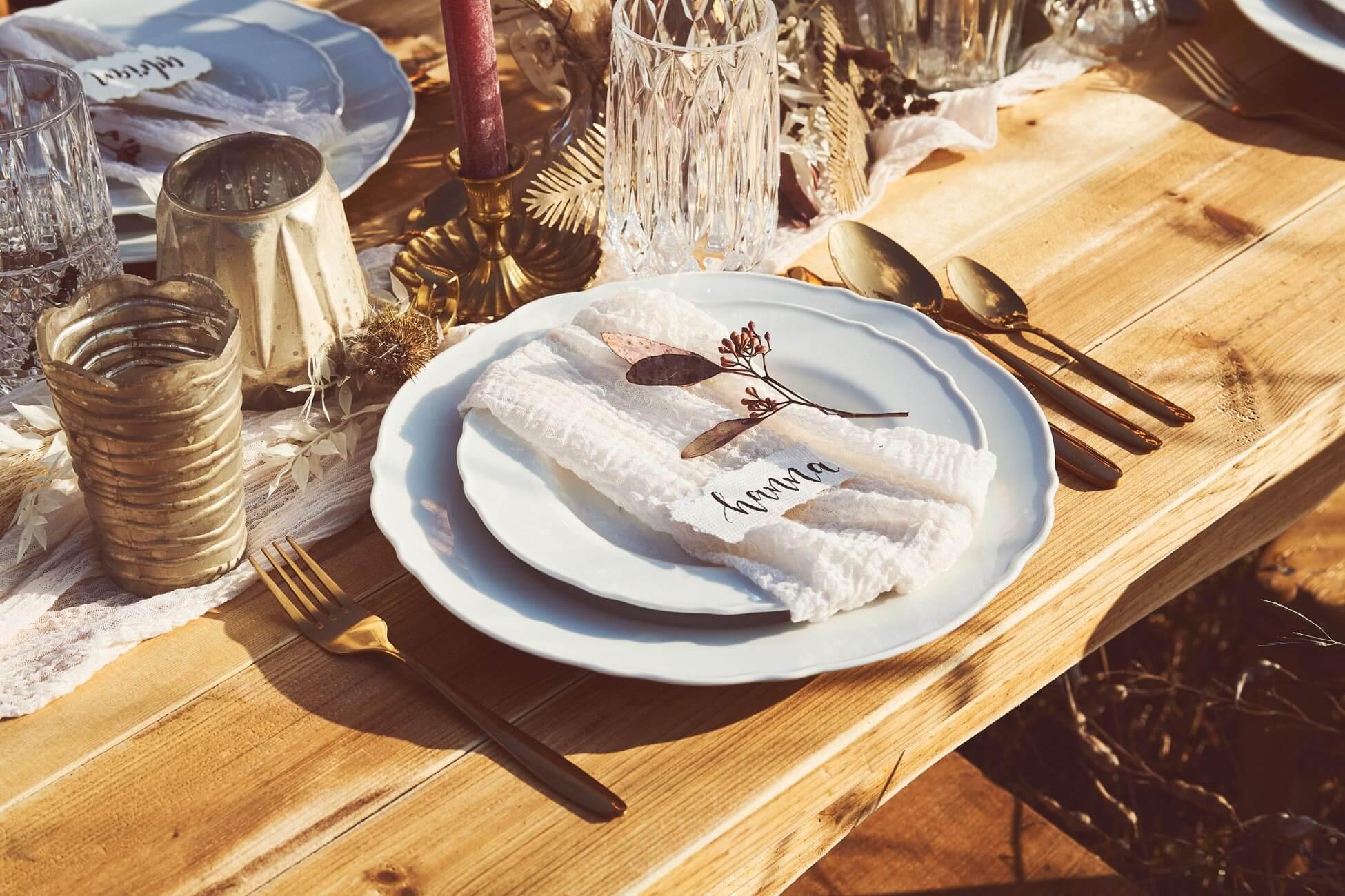 Tisch Dekoration von Handwerkerin auf Jucker Farm