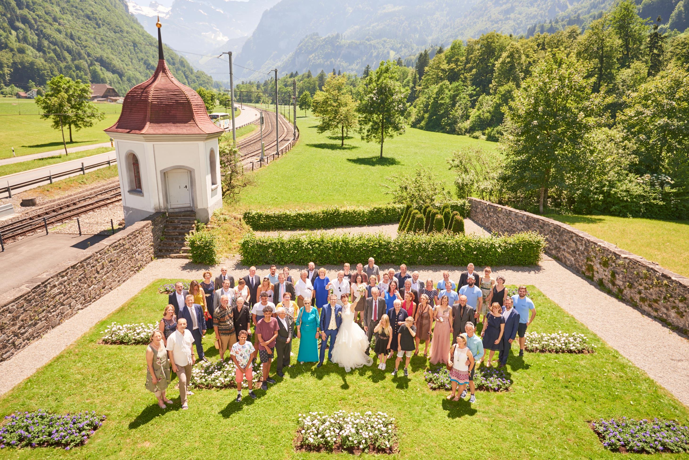 Gruppenfotos Hochzeit Kirche