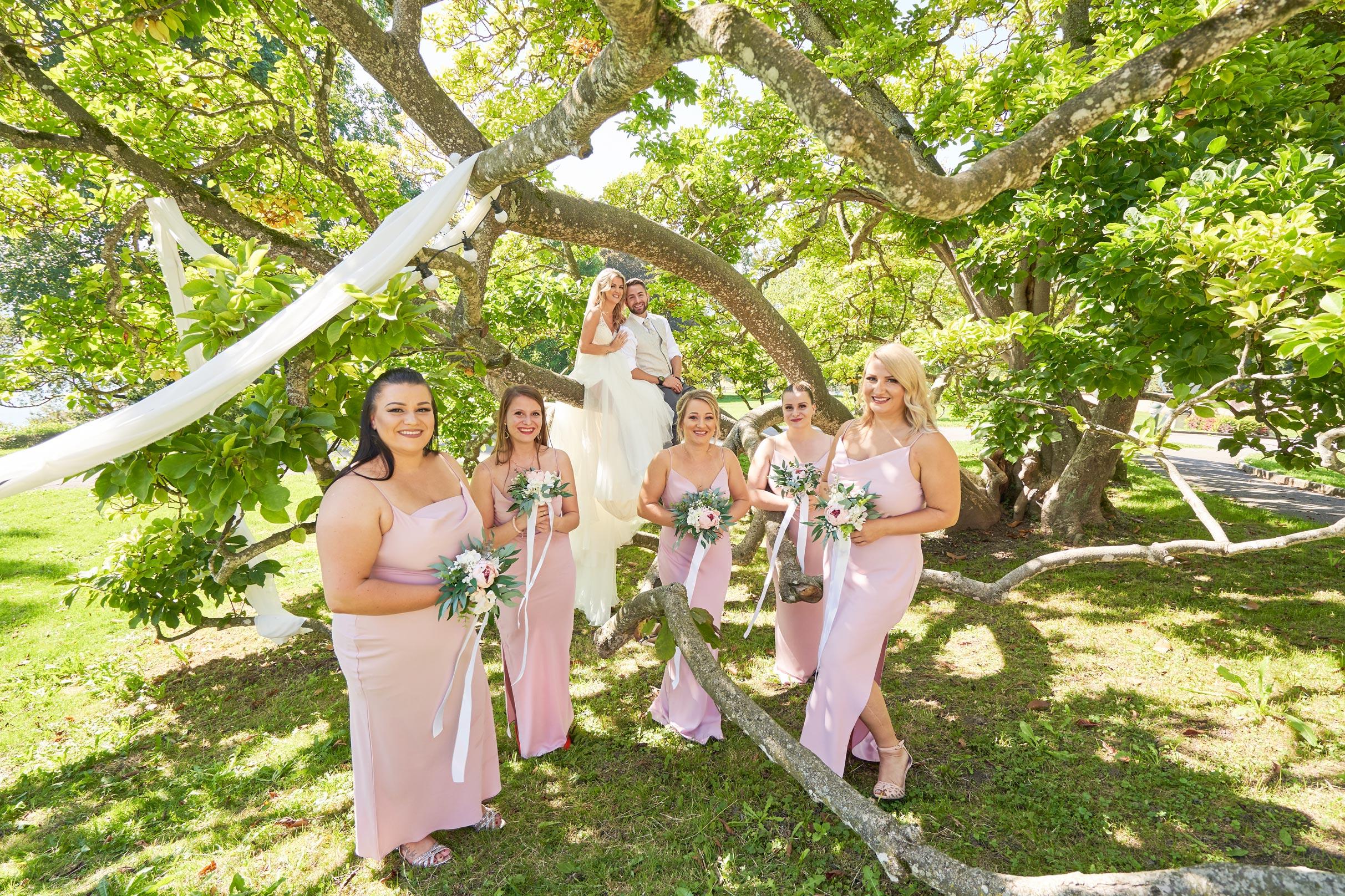 Gruppenfotos Hochzeit Bridesmaids