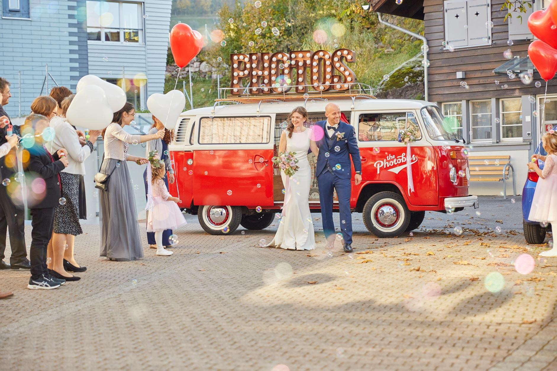 Brautpaar am Hochzeitstag