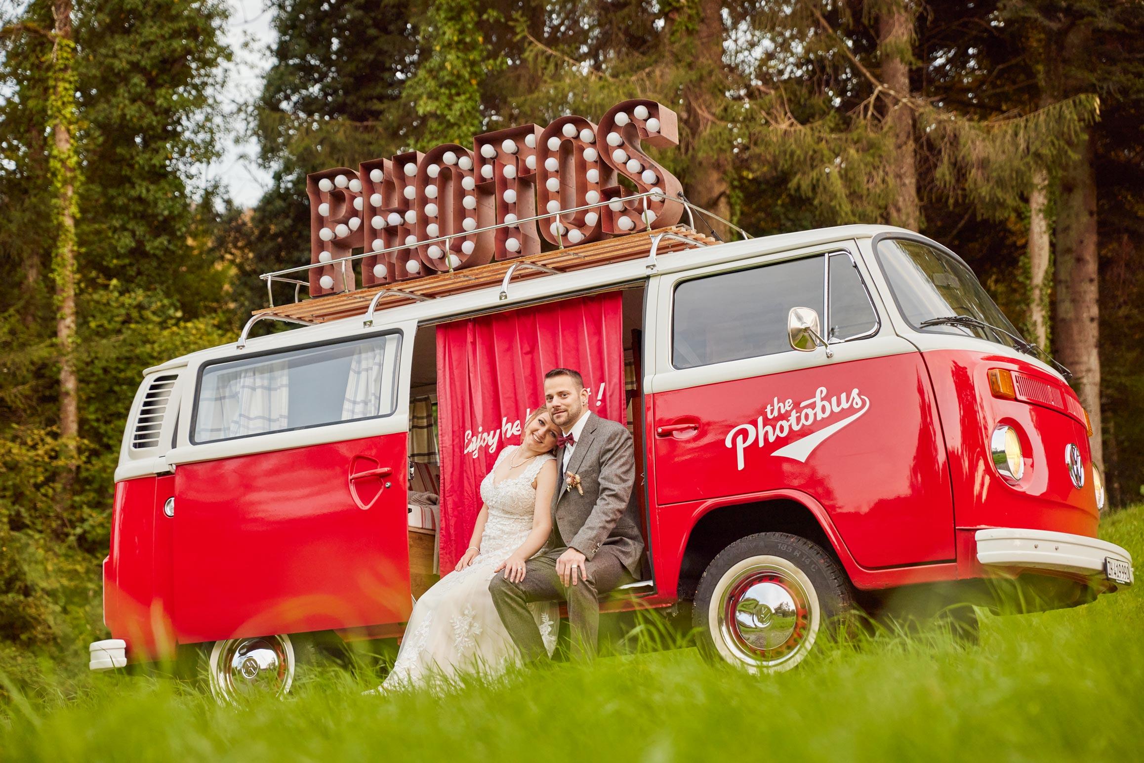 Fotosujets für Hochzeit mit Oldtimer